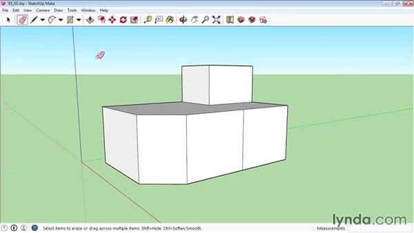 Eraser tools: SketchUp 2015 Essential Training