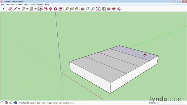 Pushing and pulling faces into 3D: SketchUp 2015 Essential Training