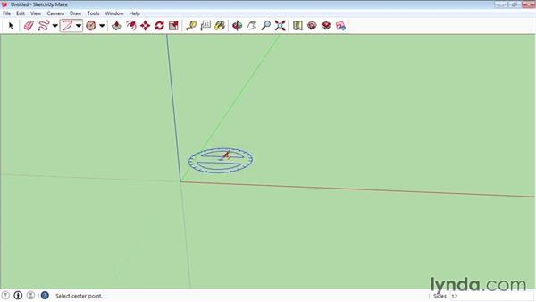 Drawing curved and freehand shapes: SketchUp 2015 Essential Training