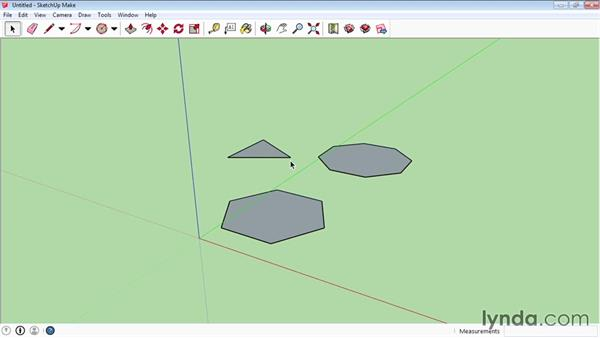 Creating circles and polygons: SketchUp 2015 Essential Training