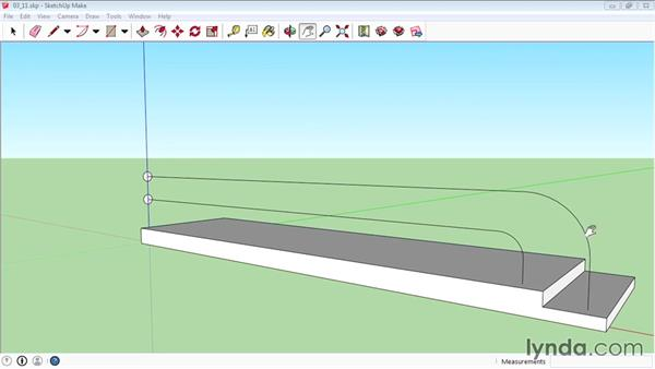 Using the Follow Me tool: SketchUp 2015 Essential Training