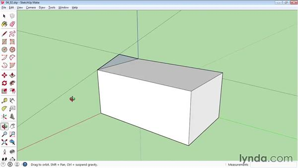 Using the Protractor tool: SketchUp 2015 Essential Training