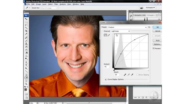 Colorizing an isolated area: Photoshop CS3 Mastering Lab Color
