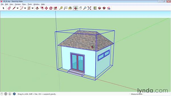 Grouping objects: SketchUp 2015 Essential Training