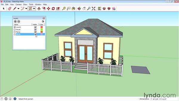 Working with layers: SketchUp 2015 Essential Training