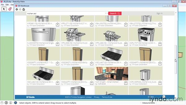 Using the 3D Warehouse: SketchUp 2015 Essential Training