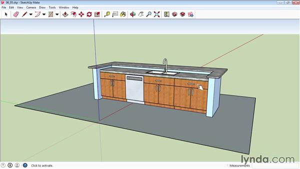 Using the Interact tool: SketchUp 2015 Essential Training