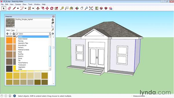 Applying materials: SketchUp 2015 Essential Training