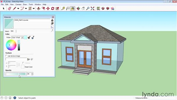Editing materials: SketchUp 2015 Essential Training