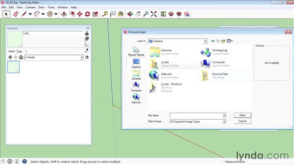 Creating materials: SketchUp 2015 Essential Training