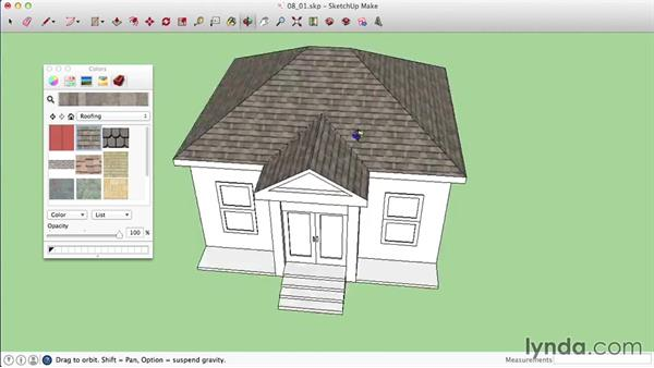 Applying materials on a Mac: SketchUp 2015 Essential Training