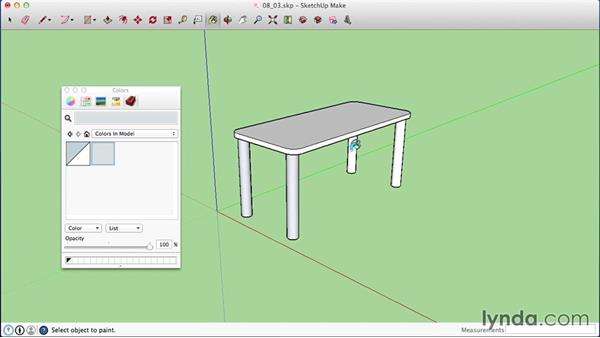 Creating materials  on a Mac: SketchUp 2015 Essential Training