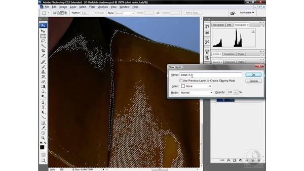 Repairing strangely colored shadows: Photoshop CS3 Mastering Lab Color