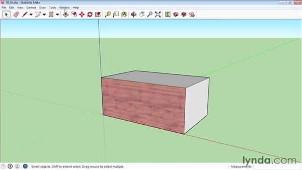Mapping textures interactively: SketchUp 2015 Essential Training