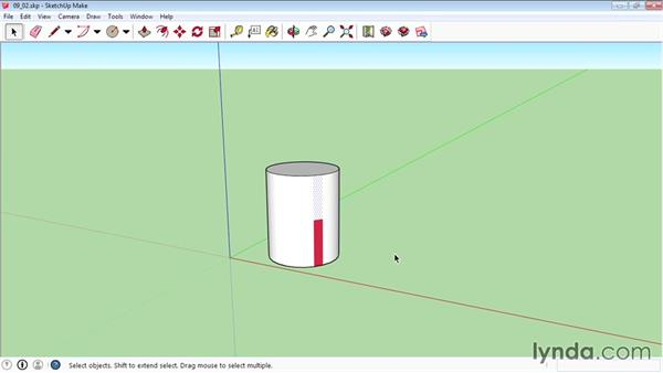 Mapping curved objects: SketchUp 2015 Essential Training