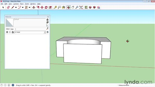 Projecting maps on curved objects: SketchUp 2015 Essential Training