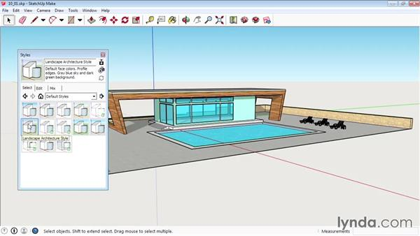 Applying styles: SketchUp 2015 Essential Training