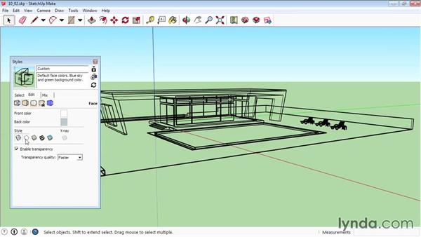 Creating styles: SketchUp 2015 Essential Training