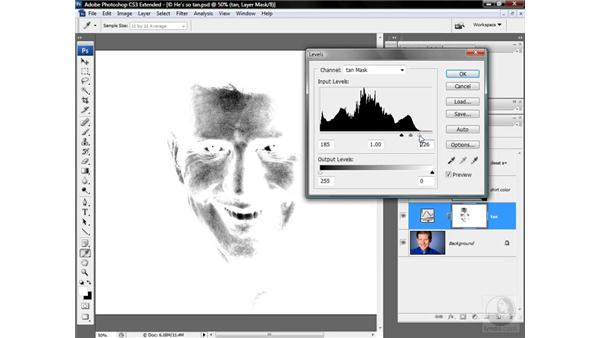 Exposing bright eyes and teeth: Photoshop CS3 Mastering Lab Color