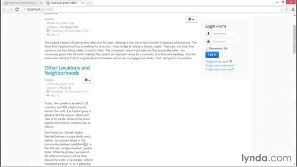 Welcome: Joomla! 3.3 Essentials: Working with Content