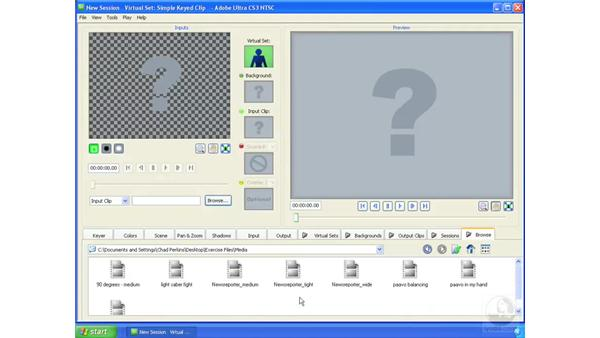 Importing footage: Ultra CS3 Essential Training