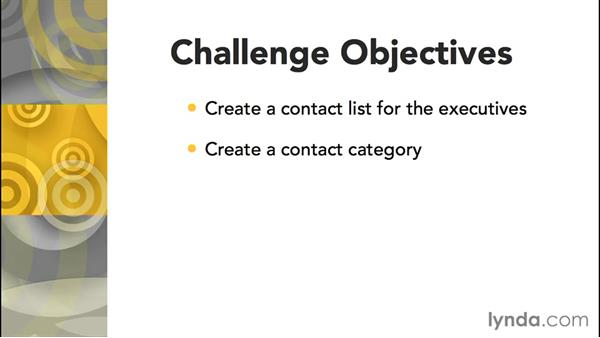 Challenge: Create a contact list: Joomla! 3.3 Essentials: Modules, Components, Extensions, and Templates