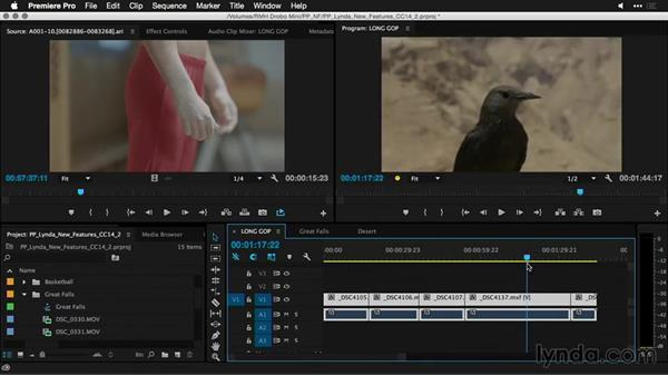Improved performance when scrubbing long-GOP (group of pictures) footage: Premiere Pro: Creative Cloud Updates