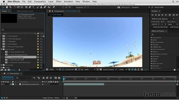 Using the exercise files: After Effects Guru: Time-Based Effects