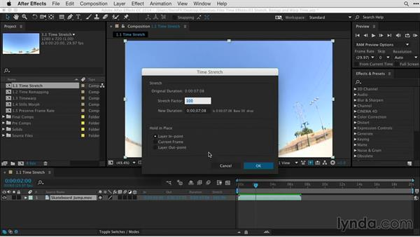 Understanding time stretching and frame blending: After Effects Guru: Time-Based Effects