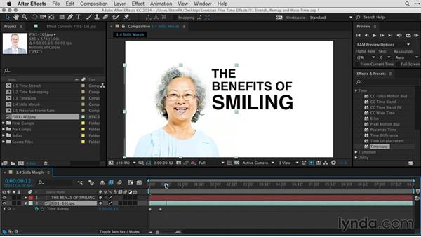 Creating a morph effect using Timewarp: After Effects Guru: Time-Based Effects