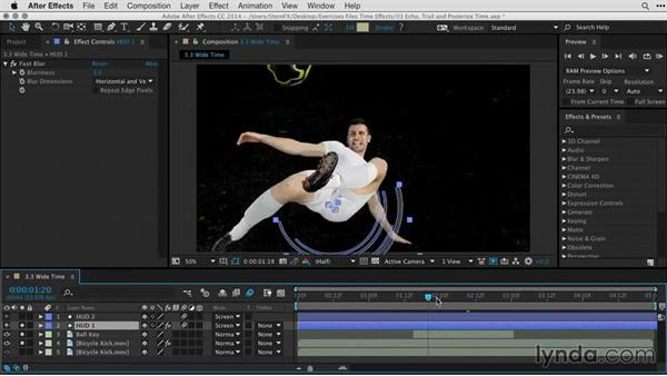 Creating a trail effect using CC Wide Time: After Effects Guru: Time-Based Effects