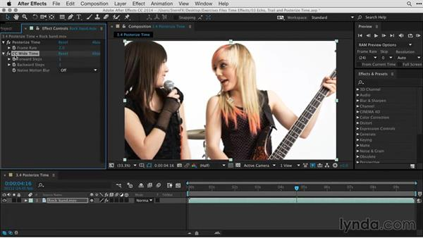 Creating a strobe effect using Posterize Time and CC Wide Time: After Effects Guru: Time-Based Effects
