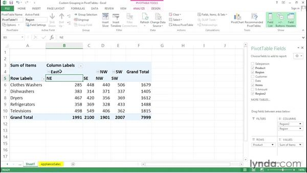 Custom grouping in PivotTables: Excel Tips Weekly