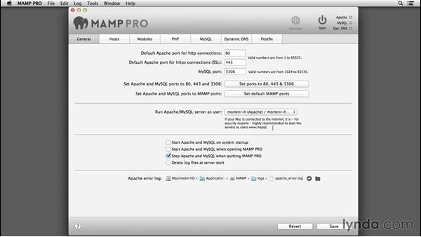 Settings overview: Installing and Running WordPress: MAMP