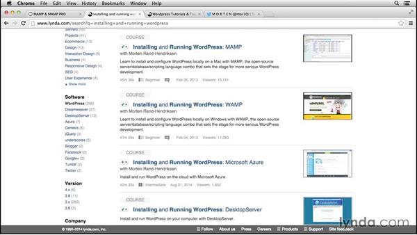 Next steps: Installing and Running WordPress: MAMP