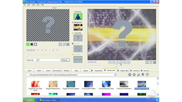 Adding an animated background: Ultra CS3 Essential Training