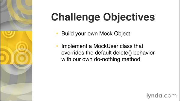 Challenge: Apply mock objects: Design Patterns in PHP