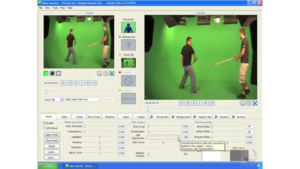 Keying complex footage: Ultra CS3 Essential Training
