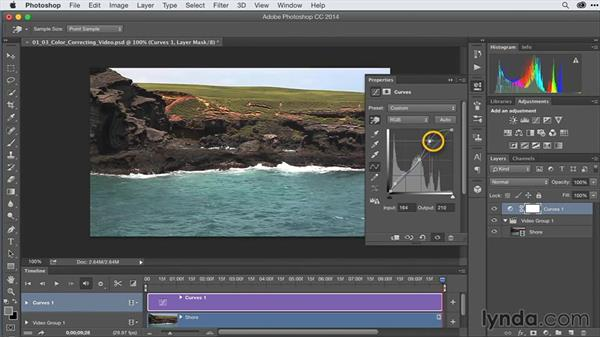 Color correcting video in Photoshop: After Effects Guru: Advanced Photoshop Techniques