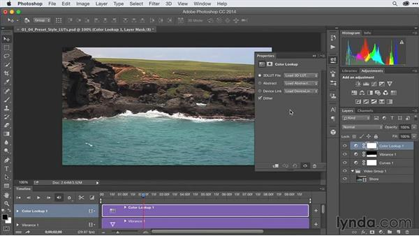 Loading and editing preset styles with lookup tables (LUTs): After Effects Guru: Advanced Photoshop Techniques