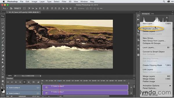 Creating and saving custom LUTs: After Effects Guru: Advanced Photoshop Techniques
