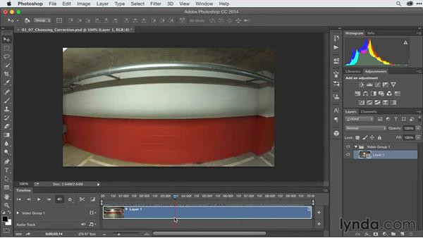 Correcting lens distortion: After Effects Guru: Advanced Photoshop Techniques