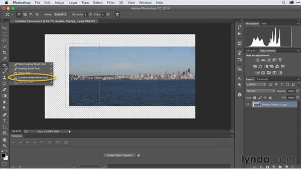 Extending video backgrounds: After Effects Guru: Advanced Photoshop Techniques