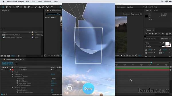 Creating environment maps to match graphics into scenes: After Effects Guru: Advanced Photoshop Techniques