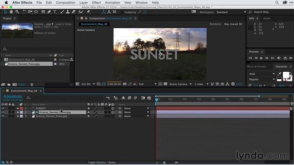 Applying environment maps in After Effects: After Effects Guru: Advanced Photoshop Techniques