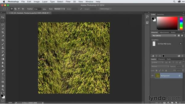 Creating custom textures for 3D from photographs: After Effects Guru: Advanced Photoshop Techniques