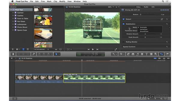 Stabilizing shaky footage in FCP X: Video Post Tips Weekly