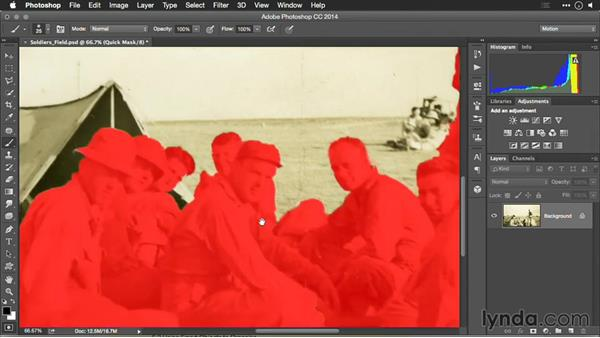 Using Quick Mask mode: Motion Control 3D: Bringing Your Photos to Life in Three Dimensions with Photoshop and After Effects CC
