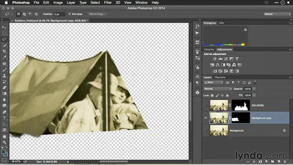 Using layer masks: Motion Control 3D: Bringing Your Photos to Life in Three Dimensions with Photoshop and After Effects CC