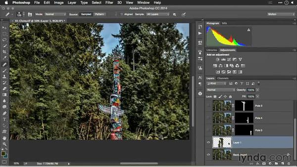 Filling in the holes: Healing Brush: Motion Control 3D: Bringing Your Photos to Life in Three Dimensions with Photoshop and After Effects CC